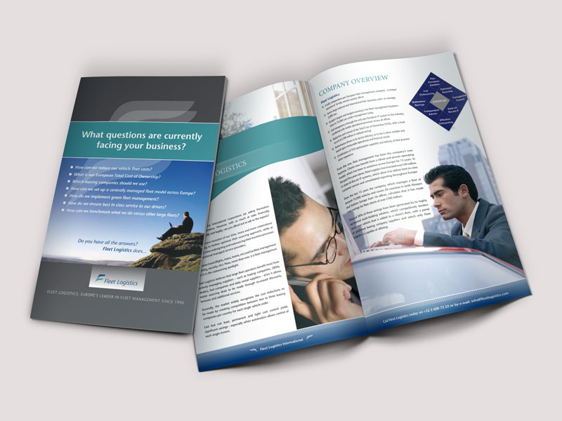 Fleet Logistics brochure design