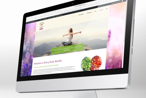 nutritional health website design