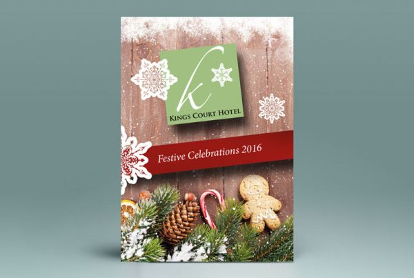 A4 Christmas Menu Design