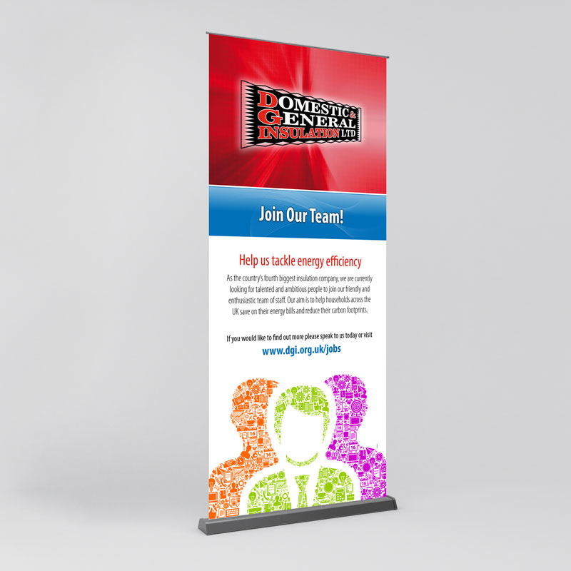 exhibition pull-up banner
